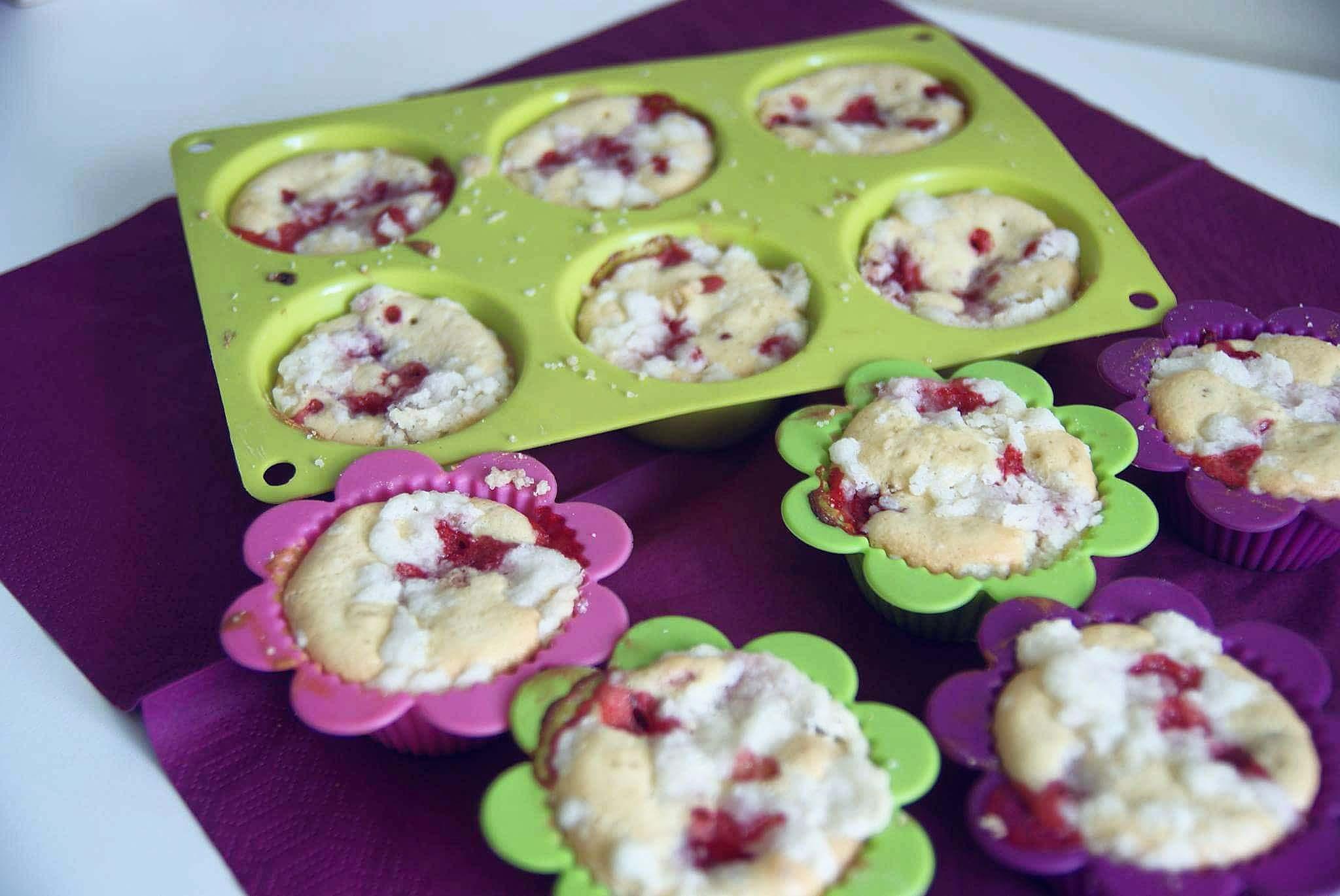 Bezglutenowe ciasteczka, muffinki z kruszonką