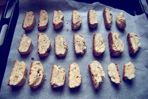 Biscotti z migdałami na blasze