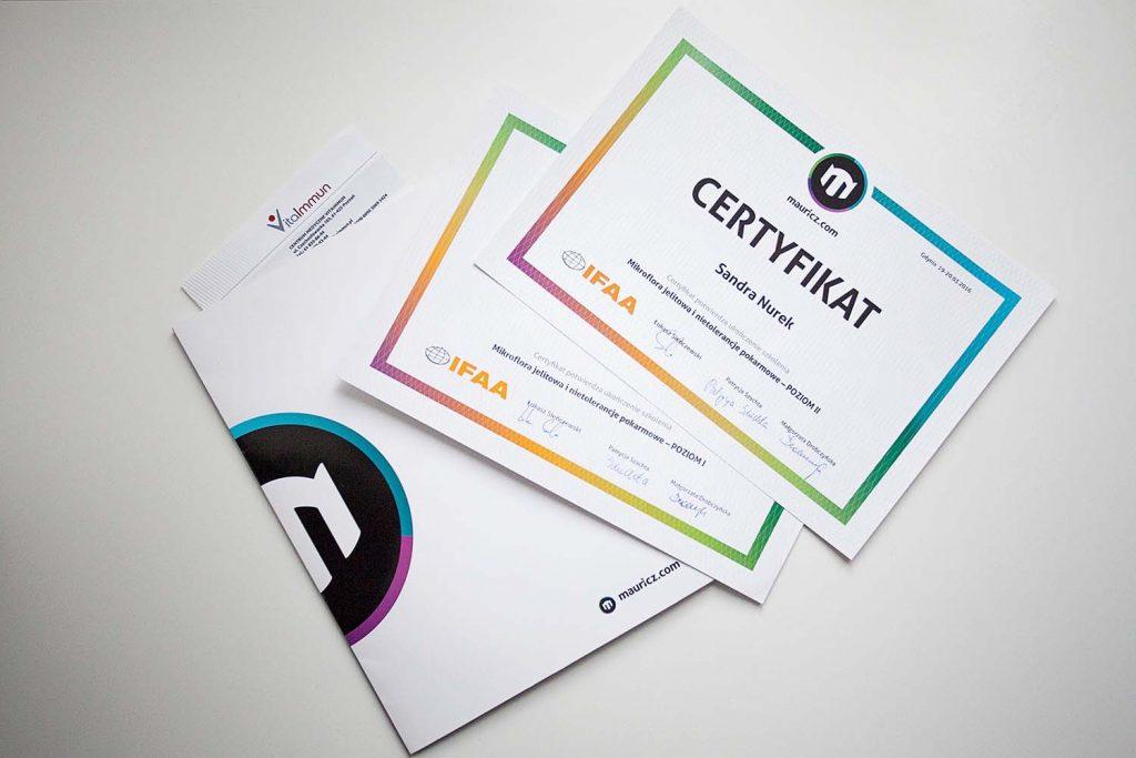 certyfikaty mauricza i teczka